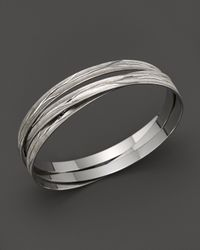 Roberto Coin | Metallic Sterling Silver Bangle | Lyst