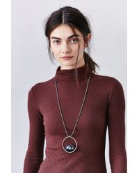 Urban Outfitters - Metallic Donna Stone Pendant Necklace - Lyst
