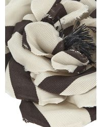 Alessandra Rich | Natural Cream Grosgrain Floral Brooch | Lyst