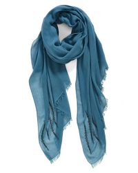 Hinge | Blue Beaded Scarf | Lyst