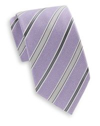Saks Fifth Avenue | Purple Elliston Striped Silk Tie for Men | Lyst