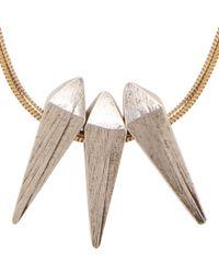 Isabel Marant | Metallic Gold Spike Pendant Leon Necklace | Lyst