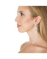 Emily & Ashley | Metallic Gold Fruity Pebble Earring, Moonstone | Lyst