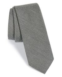 Calibrate - Gray Check Silk Blend Tie for Men - Lyst