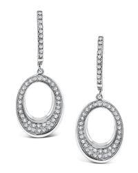 KC Designs - Metallic Tapered Oval Diamond Drop Earrings - Lyst