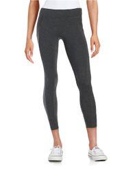 Calvin Klein | Gray Cotton-stretch Jogger Leggings | Lyst