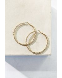 Urban Outfitters | Metallic Twisted Rope Hoop Earring | Lyst