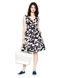Kate Spade | Black Butterfly Fit And Flare Dress | Lyst