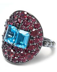 Stephen Dweck | Purple Sterling Silver Topaz Twin Stone Ring | Lyst
