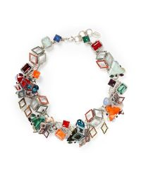 Erickson Beamon | Multicolor 'Bucky Ball' Crystal Collar Necklace | Lyst