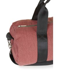 TOPSHOP - Red Canvas Luggage Bag - Lyst