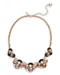 kate spade new york - Metallic 'fame & Flowers' Necklace - Lyst
