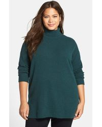 Halogen - Green Turtleneck Sweater - Lyst
