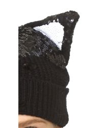 Markus Lupfer | Fox Face Beanie Hat - Black | Lyst