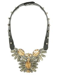 Moutoncollet | Multicolor Moutton Collet Leather Berlin Necklace 21 | Lyst