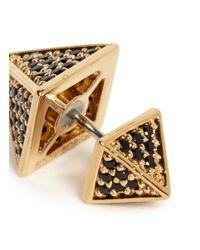 Eddie Borgo | Metallic Pavé Crystal Pyramid Earrings | Lyst