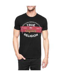 True Religion | Black Denim And Goods Mens T-shirt for Men | Lyst