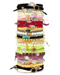 Tai | Pink Cz Stud Woven Bracelet | Lyst