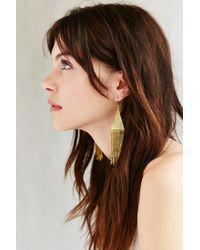 Urban Outfitters - Metallic Lonestar Fringe Drop Earring - Lyst