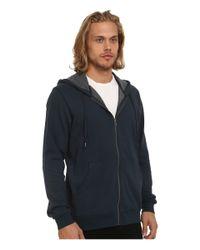 RVCA | Blue Crucial Ii Zip Hoodie for Men | Lyst