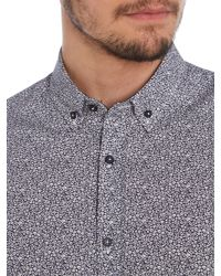 Duck and Cover - Blue Walmsley Print Slim Fit Button Down Shirt for Men - Lyst