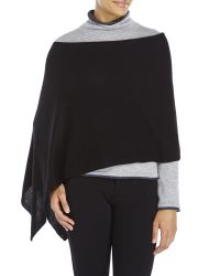 In Cashmere - Black Solid Poncho - Lyst
