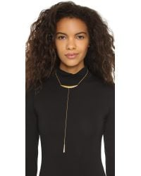 Chan Luu | Metallic Lariat Drop Necklace | Lyst