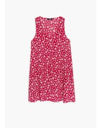 Mango - Red Printed Dress - Lyst