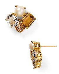 kate spade new york | Multicolor Neutral Cluster Stud Earrings | Lyst