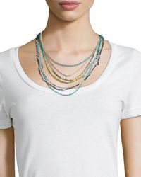 Johnny Was - Blue Hip Layered Necklace - Lyst