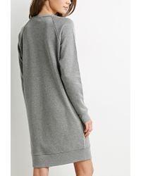 Forever 21 - Gray Raglan Sweater Dress - Lyst