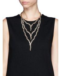 Erickson Beamon | Metallic 'temptress' Three Tier Crystal Necklace | Lyst