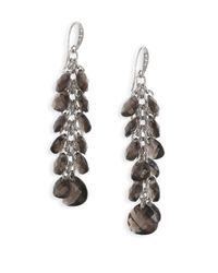 ABS By Allen Schwartz | Metallic Charmed Recolor Long Dangling Drop Earrings | Lyst