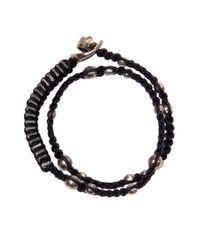 Tobias Wistisen | Black Double Slice Bracelet for Men | Lyst