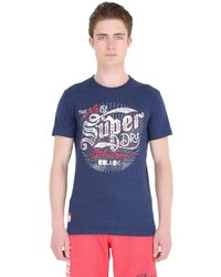 Superdry | Blue Tin Tab Printed Cotton T-shirt for Men | Lyst