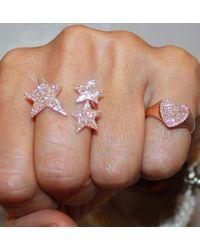 Anne Sisteron - Pink 14kt Rose Gold Diamond Rachel Heart Ring - Lyst