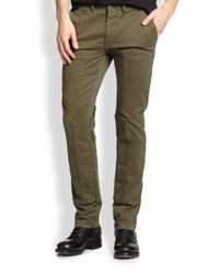 Belstaff | Green Duxbury Stretch Cotton Trousers for Men | Lyst