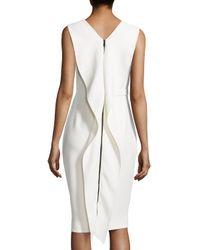 Jason Wu - White Sleeveless Cascade Zip Dress - Lyst