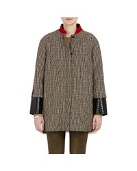 Moncler | Natural Women's Mixed-media Parker Coat | Lyst