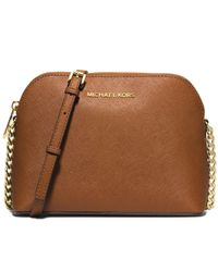 Michael Kors | Metallic Michael Cindy Large Dome Crossbody | Lyst