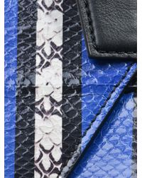 Givenchy | Blue Antigona Striped Ayers Clutch | Lyst
