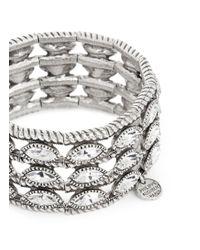 Philippe Audibert | White 'becky' Crystal Leaf Tier Elastic Bracelet | Lyst