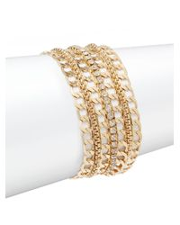 Saks Fifth Avenue | Metallic Multi-strand Chain Bracelet | Lyst