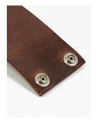 Nonnative | Men's Brown Labourer Horween Leather Wide Bracelet for Men | Lyst