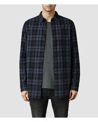 AllSaints - Blue Randstadt Shirt for Men - Lyst