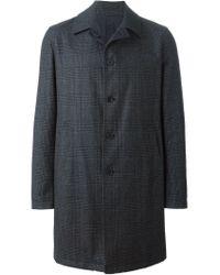 Lardini - Gray Reversible Coat for Men - Lyst