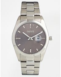 Oasis - Metallic Silver Coloured Bracelet Watch with Grey Dial - Lyst