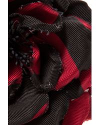 Alessandra Rich | Red Silk Flower Pin | Lyst