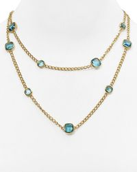 Michael Kors | Blue Stone Station Necklace, 40"