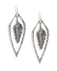 Alexis Bittar | Blue Miss Havisham Kinetic Gun Hematite & Crystal Doublet Kite Earrings | Lyst
